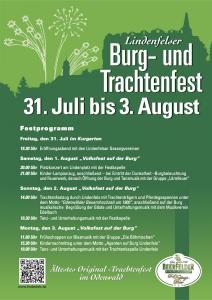 Burgfest 2015 (Plakat mit Programm)